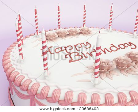 Happy Birthday: Cake With Candles