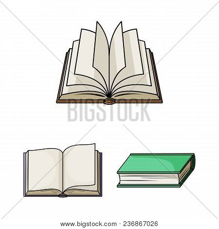 Book Bound Cartoon Icons In Set Collection For Design. Printed Products Vector Symbol Stock  Illustr