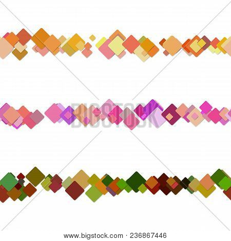 Repeatable Random Square Pattern Page Separator Line Design Set - Vector Graphic Elements From Color