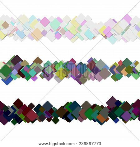 Repeatable Abstract Square Pattern Page Rule Line Design Set - Vector Graphic Decoration Elements Fr