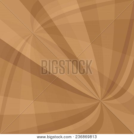Brown Curved Ray Burst Background - Vector Illustration From Curved Rays