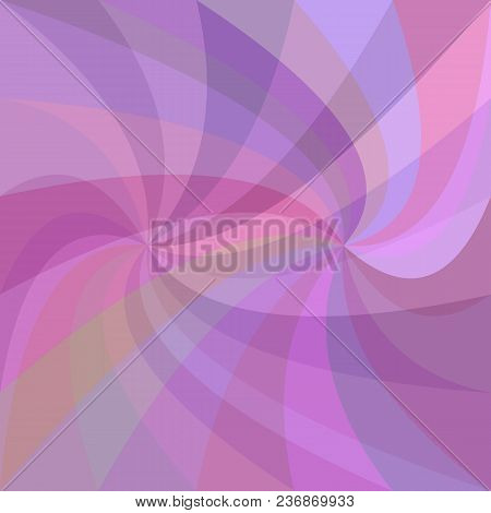 Abstract Double Swirl Background - Vector Graphic Design From Swirling Rays In Purple Tones