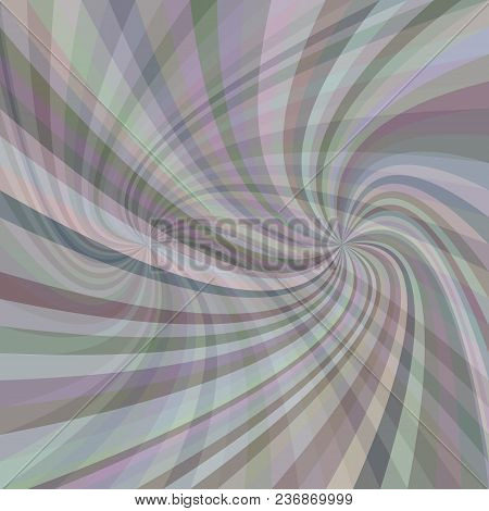 Double Geometric Swirl Background - Vector Graphic From Twisted Rays