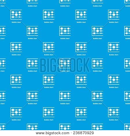 Bubble Chart Pattern Vector Seamless Blue Repeat For Any Use