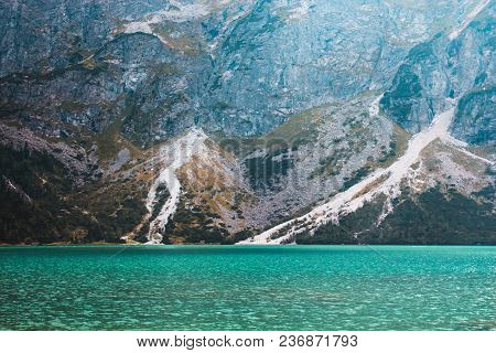 Panorama Of The Lake Morskie Oko In The Tatra Mountains, Poland