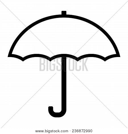 Umbrella Line Icon. 96x96 For Web Graphics And Apps. Simple Minimal Pictogram. Vect