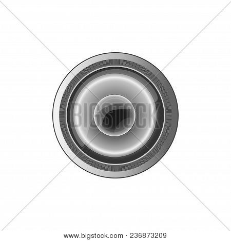 The Semi-realistic Camera Lens White Background. Eps10