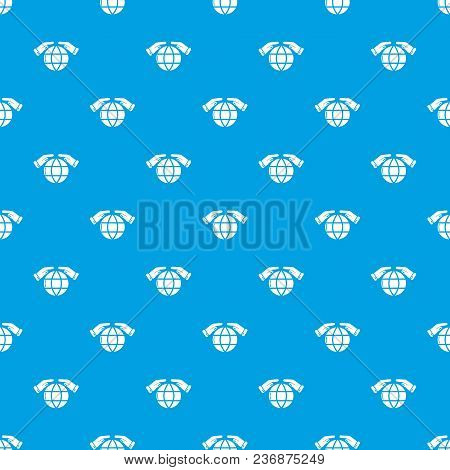 Safe Planet Pattern Vector Seamless Blue Repeat For Any Use