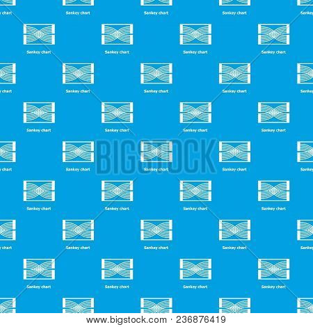 Sankey Chart Pattern Vector Seamless Blue Repeat For Any Use