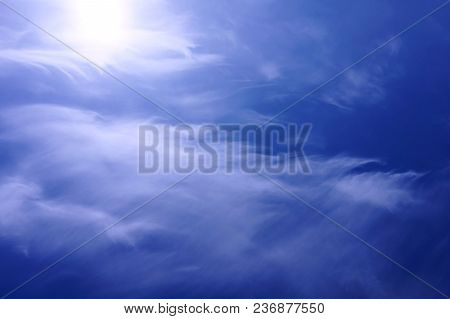 Background, Abstraction. Sky And Clouds Blue With White