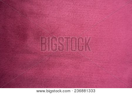 Cerise Red Artificial Suede Fabric From Above