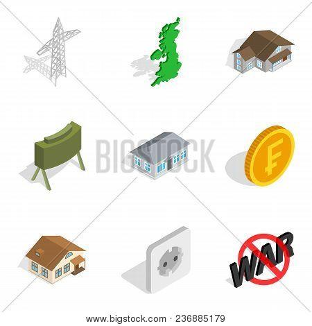 Monetary Supply Icons Set. Isometric Set Of 9 Monetary Supply Vector Icons For Web Isolated On White