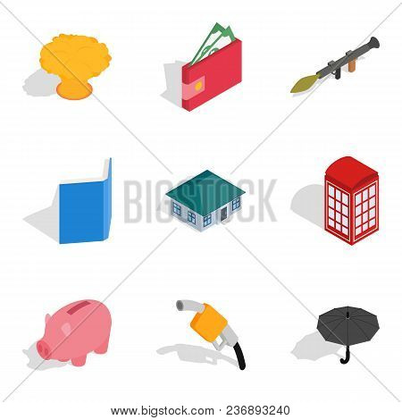Cash Investment Icons Set. Isometric Set Of 9 Cash Investment Vector Icons For Web Isolated On White