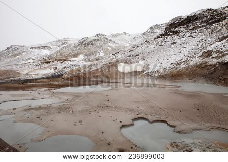 The Unique Pools Of Water At The Seltun Hot Spring In Iceland