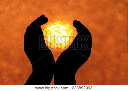 Symbol Of Hope In Children's Hands
