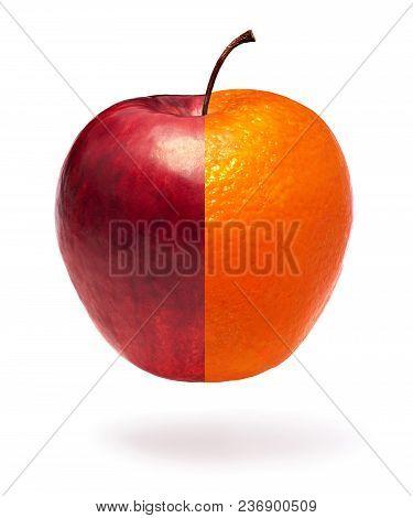 Half An Apple And Half An Orange