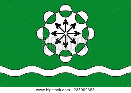 Flag Of Hamminkeln Is A Town In The District Of Wesel, In North Rhine-westphalia, Germany. Vector Il