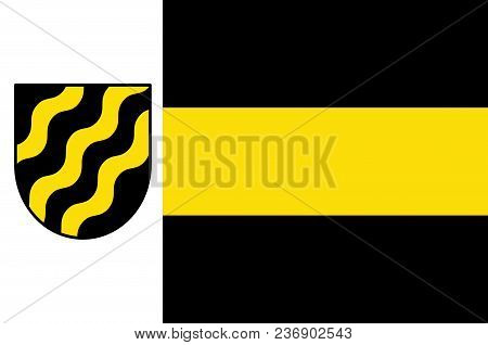 Flag Of Neukirchen-vluyn Is A Town In The District Of Wesel, In North Rhine-westphalia, Germany. Vec