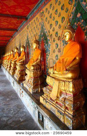 Wat Arun In Gold Temple In Thailand