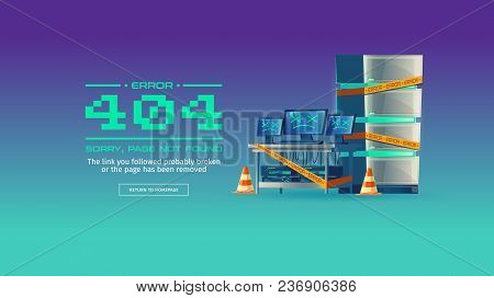 Sorry, Page Not Found, 404 Error Vector Concept Illustration. Website Is On Maintenance Or Under Con