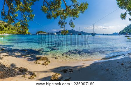 Beautiful Beach Playa De Formentor, Palma Mallorca, Spain