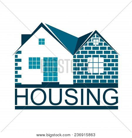 Housing And Home Symbol For Business Vector