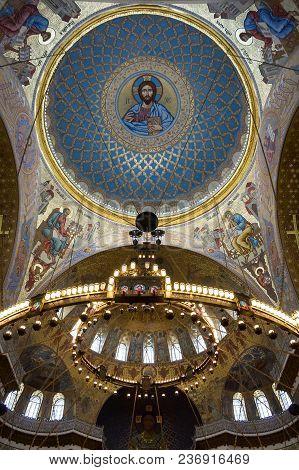 Saint- Petersburg, Russia - July 11, 2016: Interior Of Naval Cathedral In Kronshtadt, Saint-petersbu