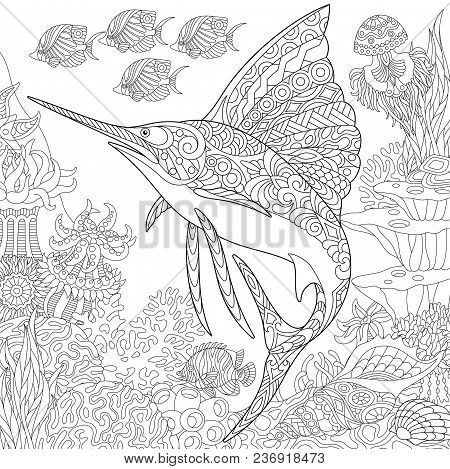 Coloring Page Adult Vector Photo Free Trial Bigstock