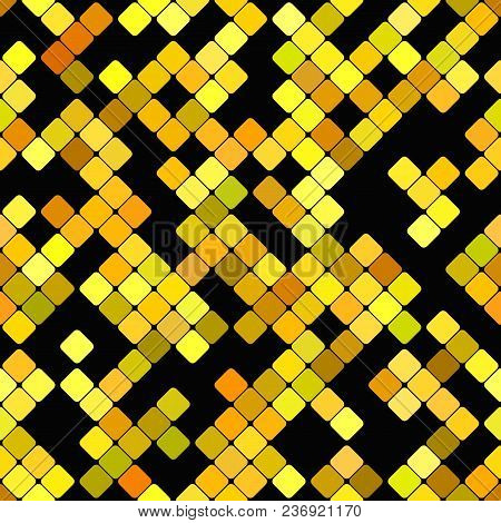 Abstract Diagonal Rounded Square Mosaic Pattern Background - Vector Graphic Design