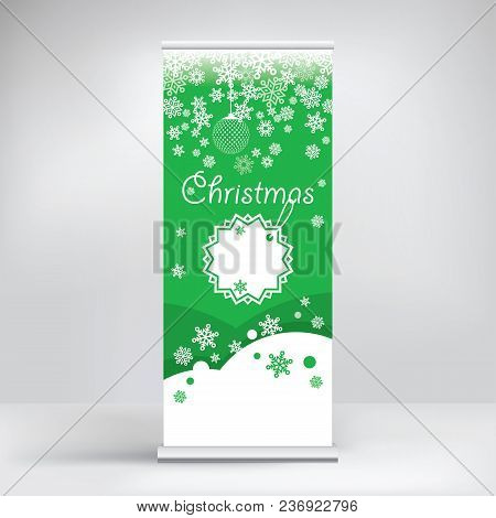 Beautiful Promotional Roll-up Banner For Christmas And New Year