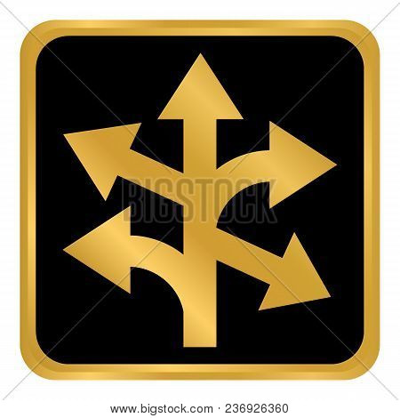 Straight, Left And Right Arrow Button On White Background. Vector Illustration.
