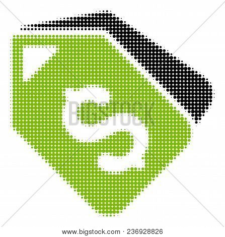 Bank Account Tags Halftone Vector Pictogram. Illustration Style Is Dotted Iconic Bank Account Tags I