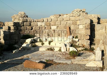 Altar Of The Basilica Of The 5th Century. Kos Island. Greece