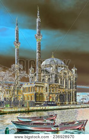 Mosque Ortakyoy On The Shore Of The Bosphorus. Istanbul. Istanbul. Turkey
