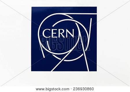 Meyrin, Switzerland - October 1, 2017: The European Organization For Nuclear Research Known As Cern