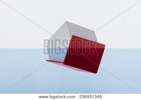Close-up Of A House With Red Roof Drowning In Water