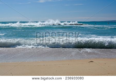 Fresh Foamy Ocean Landscape Mallorca Turquoise Colors