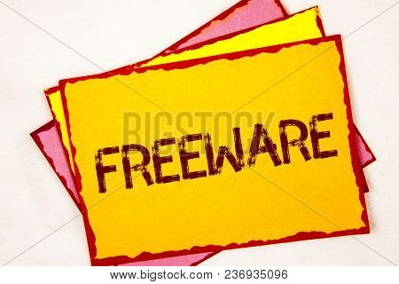 Conceptual Hand Writing Showing Freeware. Business Photo Showcasing Software Application That Is Ava