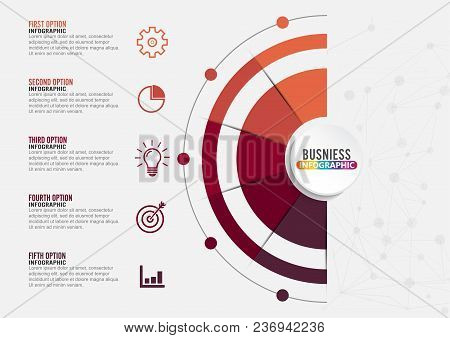 Infographics Design Vector And Marketing Icons Can Be Used For Workflow Layout, Diagram, Annual Repo