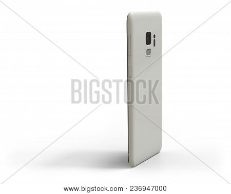Generic Smartphone With Shadow Isolated On White