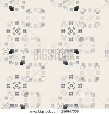 Faded Geometry Vertical Seamless Pattern. Abstract Geometry Series.