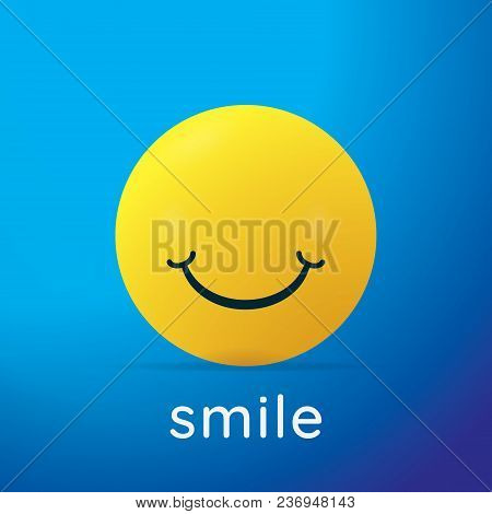 Yellow Smiley Icon. Smiley Ball Background. Vector Illustration.