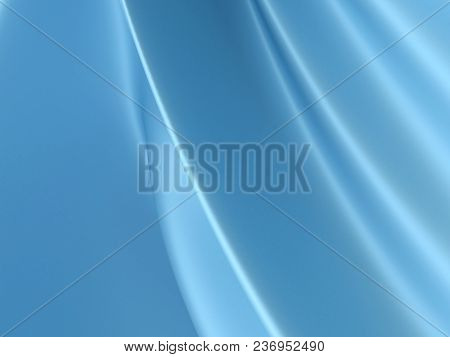 Beautiful Blue Satin Fabric For Drapery Abstract Background