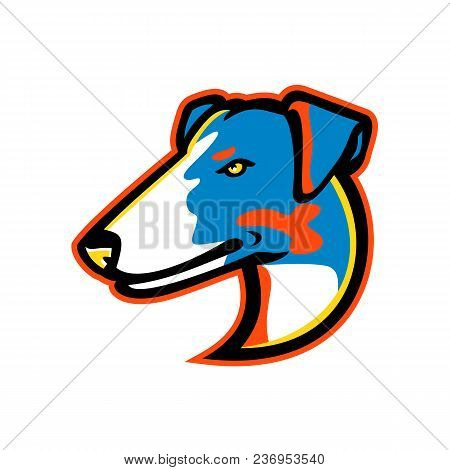 Mascot Icon Illustration Of Head Of A Smooth Fox Terrier, A Breed Of Fox Terrier Family Of Dogs View