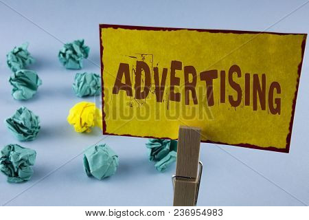 Word Writing Text Advertising. Business Concept For Reach Out World Branding With Digital Marketing