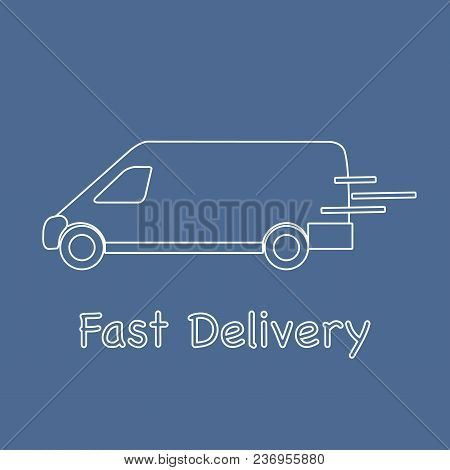 Delivery Truck. Fast And Convenient Shipping. Free Delivery.