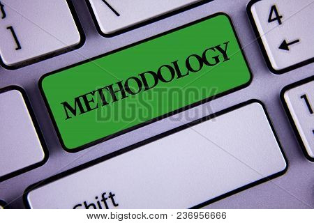 Word Writing Text Methodology. Business Concept For System Of Methods Used In A Study Or Activity St