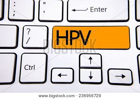 Text Sign Showing Hpv. Conceptual Photo Human Papillomavirus Infection Sexually Transmitted Disease