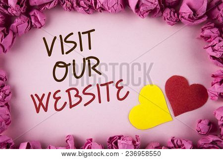 Word Writing Text Visit Our Website. Business Concept For Invitation Watch Web Page Link To Homepage