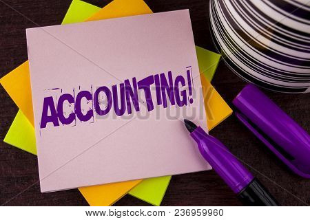 Text Sign Showing Accounting Motivational Call. Conceptual Photo Account Inner Voice Motivate Yourse